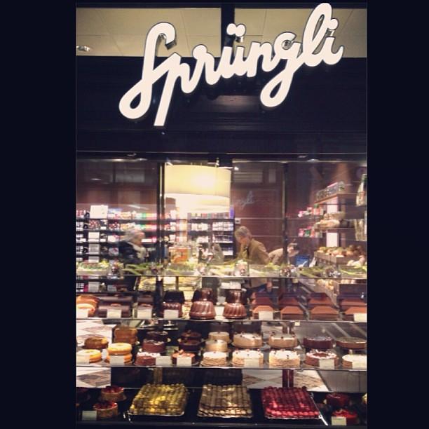 on a short trip to Zurich...Sprüngli- the Swiss world of chocolate