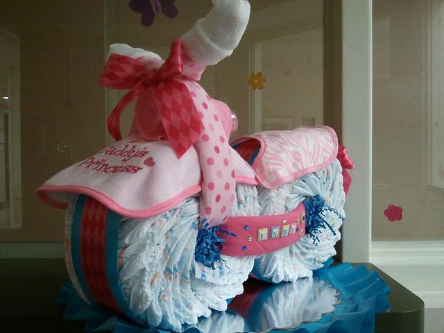 Princess Cycle Diaper cake