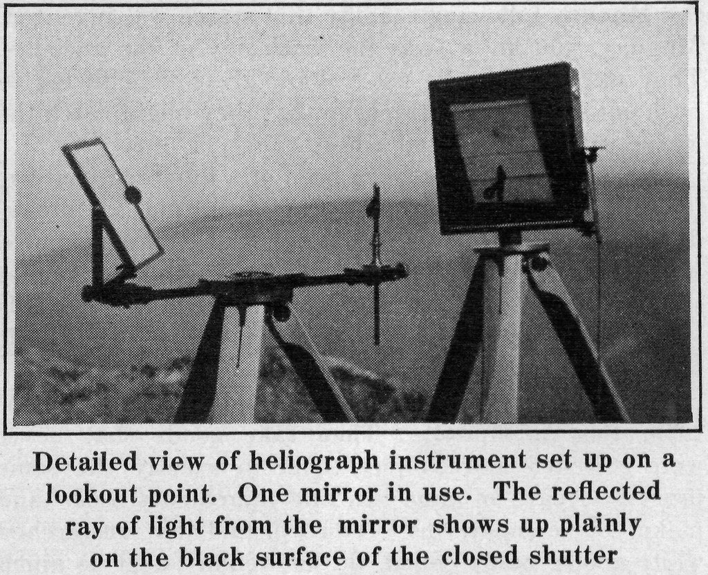 Us Signal Service Heliograph Photo 1917 I Scanned This Im