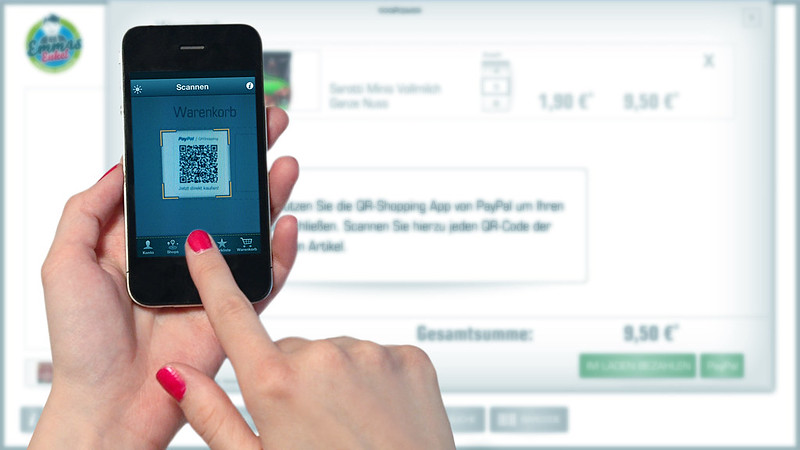 Mobile Payment: QR-code scan (300 dpi)