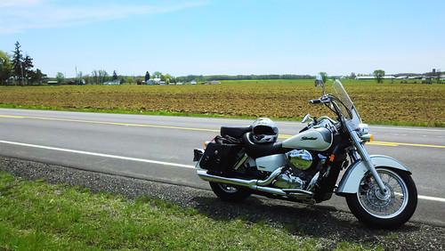 2005 shadow ohio color bike rural america honda outside outdoors farm story dorset motorcycle aero 750