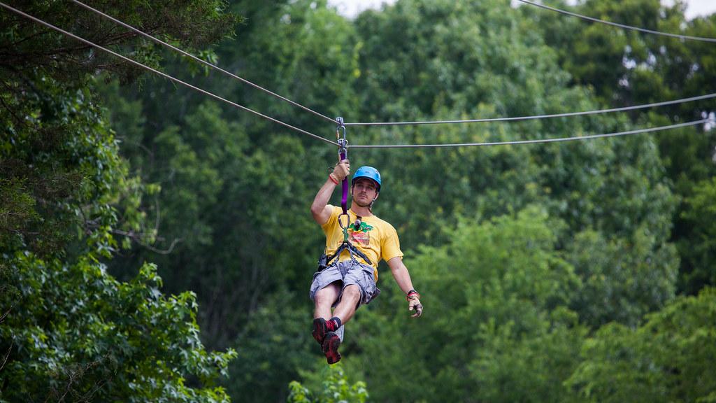 The Adventure Zipline at Gators & Friends in Greenwood, Lo… | Flickr