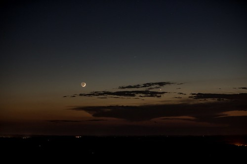 4% Crescent Moon, Mercury, and Venus | by StephenGA