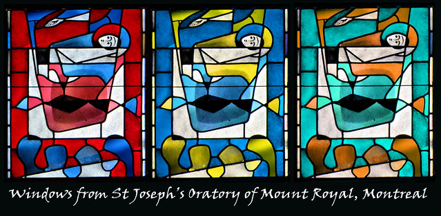 This is part of window in St Joseph's Oratory in Mount Royal, Montreal.