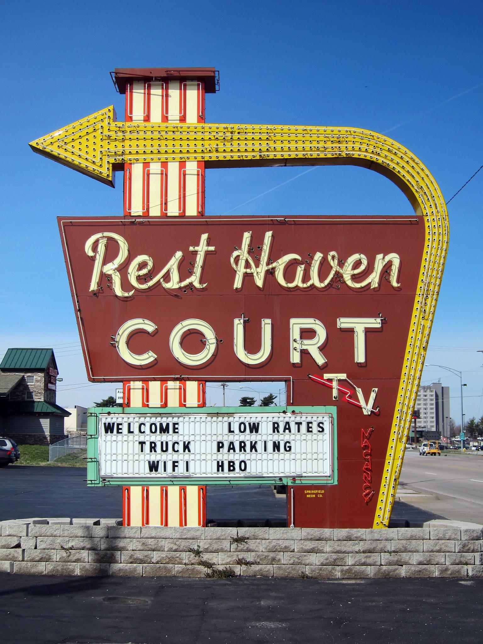 Rest Haven Court - 2000 East Kearney Street, Springfield, Missouri U.S.A. - April 3, 2013