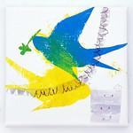 Torimadogurashi (2013) oil on canvas, ink, charcoal, pencil 230x230x30mm