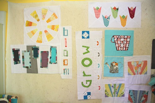 Traveling Quilts - Penny's quilt - the blocks I got