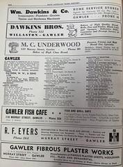 1950 SA business directory showing Gawler (1)