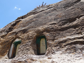 Facade of Mikael Melehayzenghi Rock-Hewn Church - Near Teka Tesfai - Ethiopia | by Adam Jones, Ph.D. - Global Photo Archive