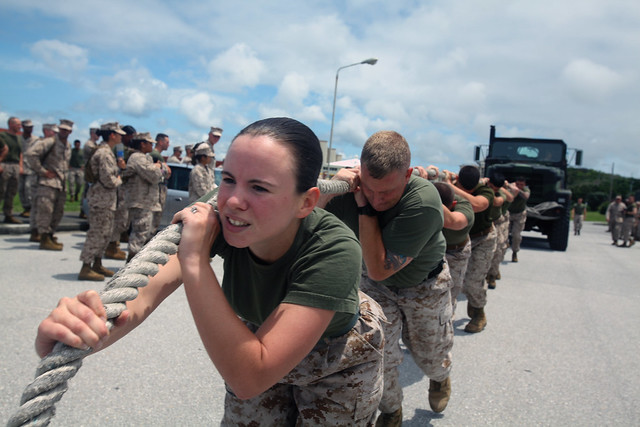 Marines pull together during competition