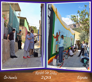 Cuaderno fotografico de los  Murales de San Isidro,edicion 2013..una inter actividad desbordante