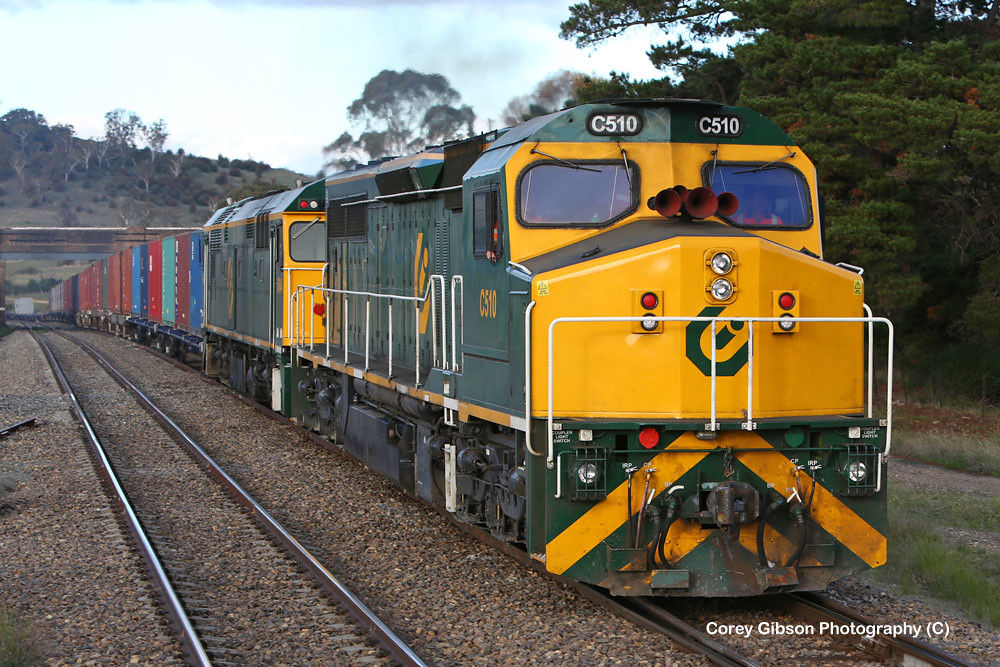 C510 & 8044 container train at Gunning by Corey Gibson