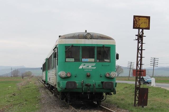 97-0559-1 (REgiotrans) / ex-SNCF X4611 te Lutita (Roemenië) op 8-4-2013