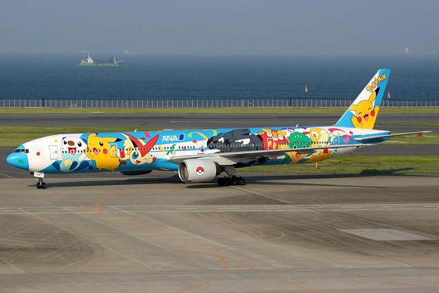 All Nippon Airways   Boeing 777-300   JA754A   Pokemon livery   Tokyo Haneda