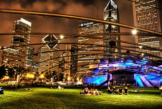 The Park in Chicago at Night | by Trey Ratcliff