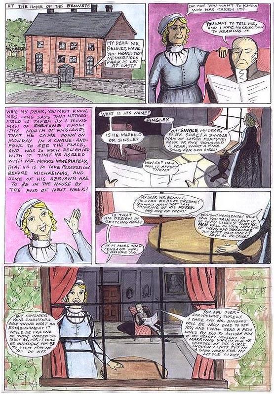 Pride and Prejudice, the comic, page 1