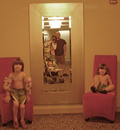 family portrait in hotel mirror | by SouleMama