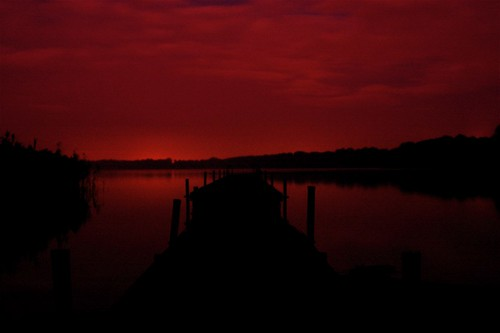A Step Into The Dark Red Night | by Voetmann