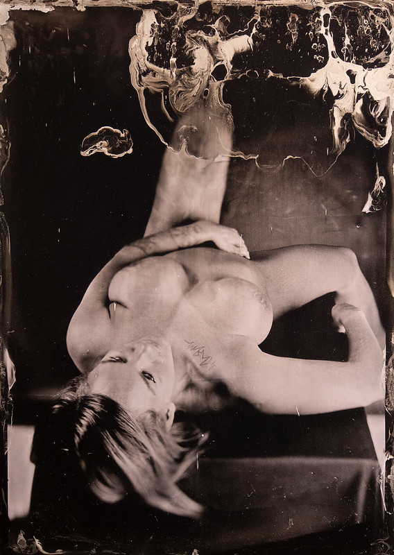 Tintypes made in studio. Nude. Model: Karina.