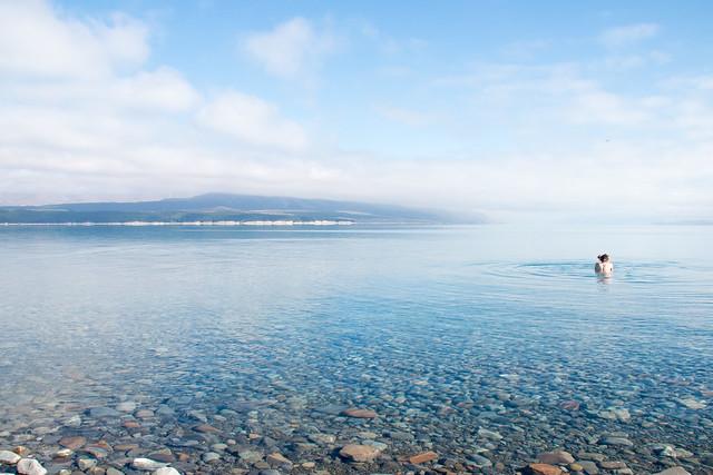 Lake-Pukaki-Kirsten-Clothes-Off