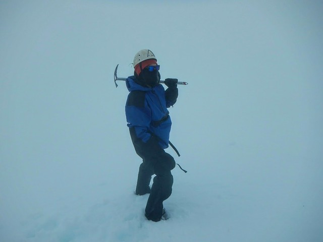 Me standing in the whiteout conditions on Volcán Villarrica
