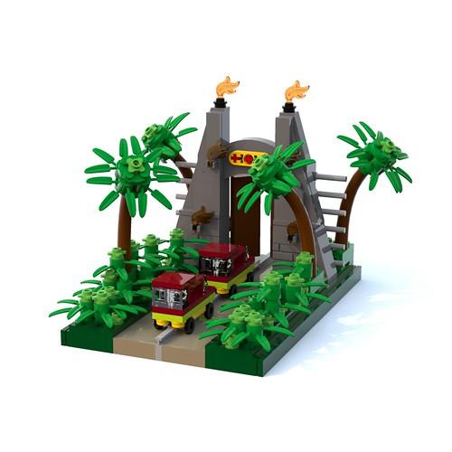 Jurassic Park Gate Vignette