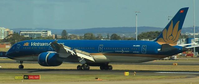 VN-A864   Vietnam Airlines   VH787   HAN - SYD   Boeing 787-9 Dreamliner   Sydney Kingsford Smith Airport   (SYD/YSSY)