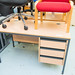 Straight desk with fixed ped E150