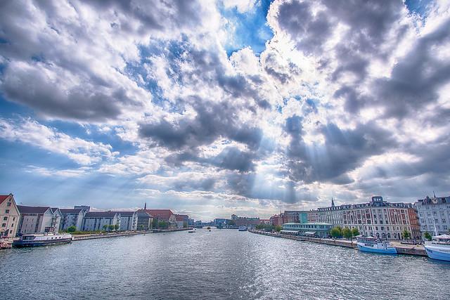 Sunrays in Copenhagen