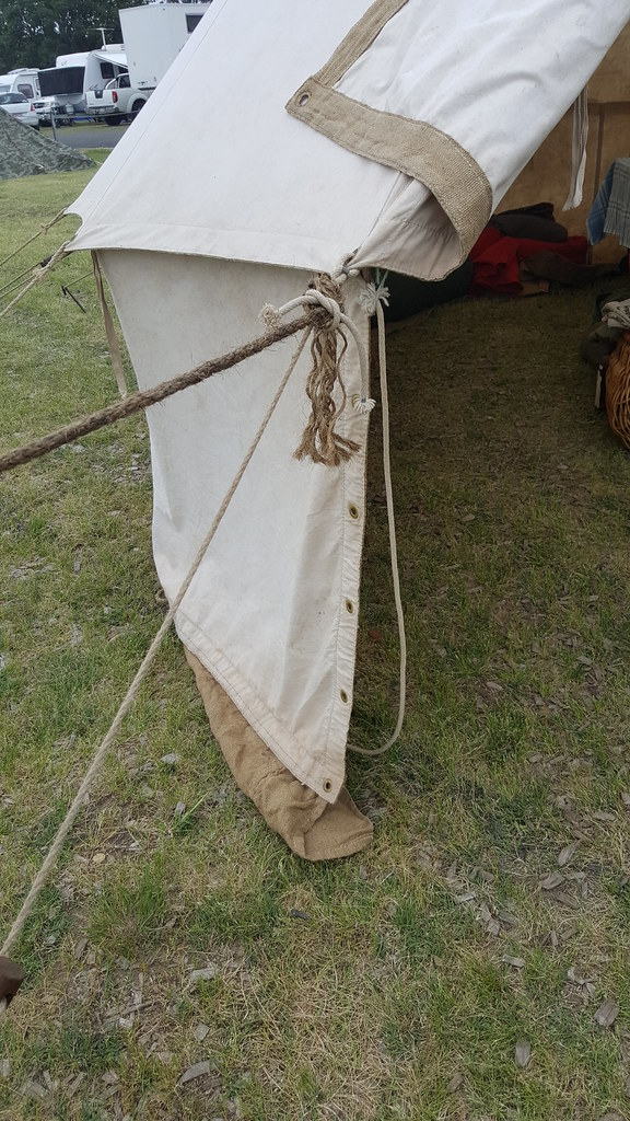 WWI reenactors British Standard 14ft tents  Ex girl guide