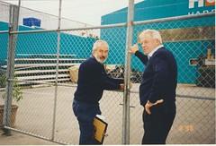 1998 Aug4 Kevin Howard Ed Manning closing up Ames Hardware