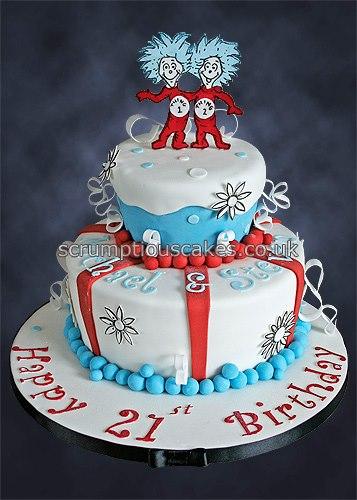 Sensational Birthday Cake 920 Thing 1 Thing 2 Paula Jane Bourke Flickr Funny Birthday Cards Online Necthendildamsfinfo
