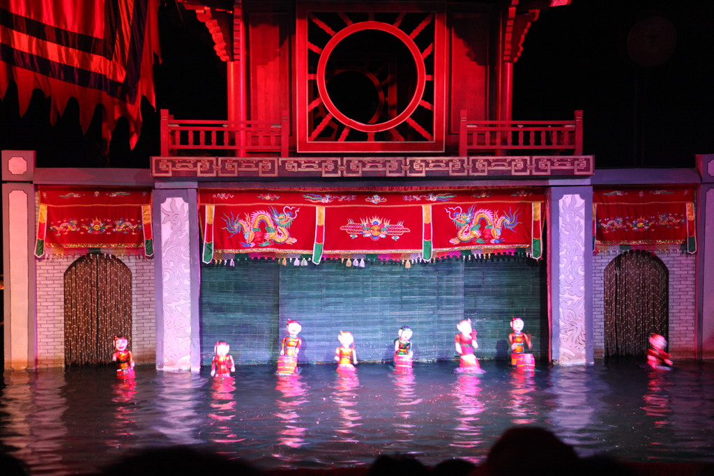 Traditional Vietnamese water puppet theater