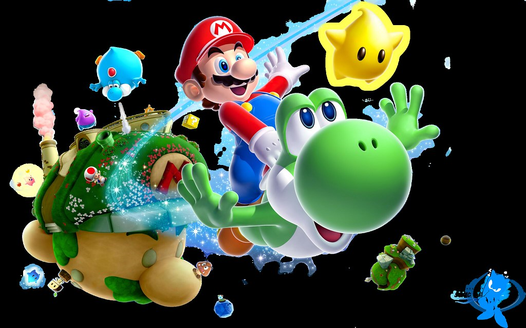Super Mario Galaxy 2 Desktop Hd Wallpaper Wwwtechagesite
