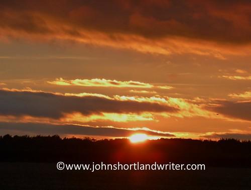 sunset clouds cotswoldhills england orange fiery sky