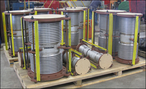 """2""""-18"""" Dia. Custom Tied Universal Expansion Joints Designed for a Chemical Plant"""