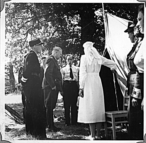 Borrestevnet 1943, Vidkun Quisling inspiserer sanitetskorpset.