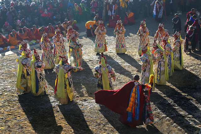 In colorful costumes--Langmusi , Gansu Province , China