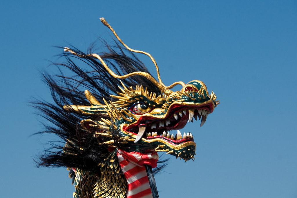 Dragon-snake dance at Nagasaki Kunchi festival