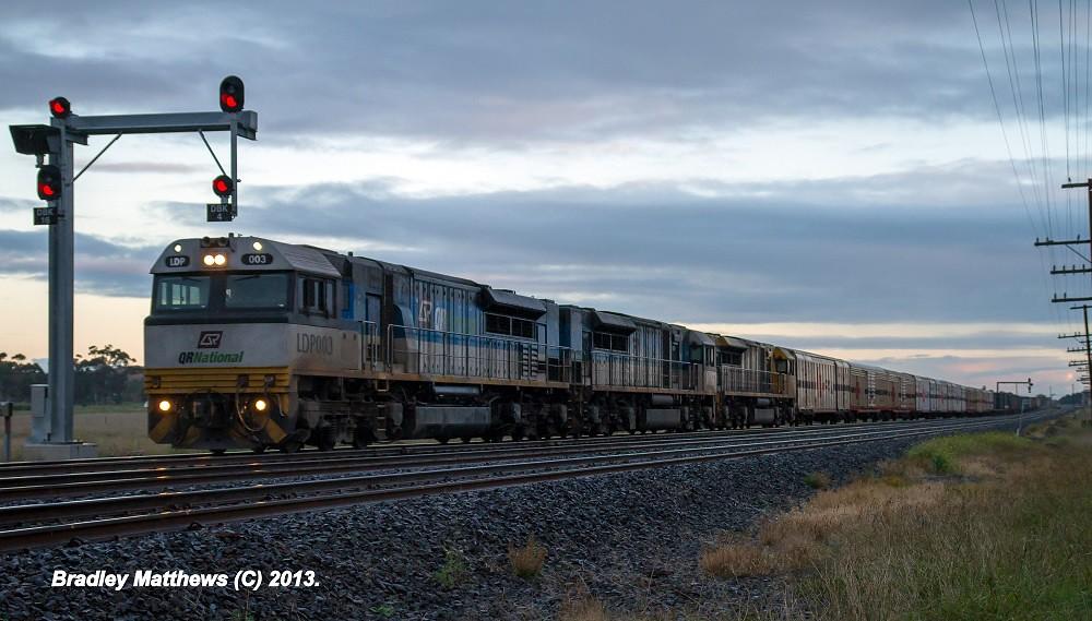 Arizon's LDP003-LDP001-LDP009 on 7MB7 to Brisbane at Doonybrook (18/5/2013) by Bradley Matthews
