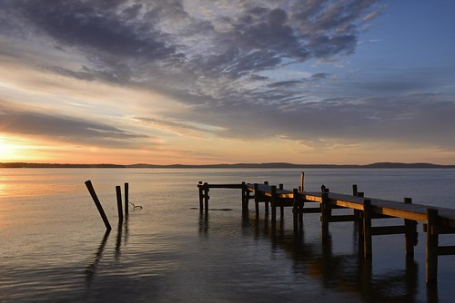 landscape sunrise blue sky clouds nikon d600 chesapeake chesapeakebay sun pier water