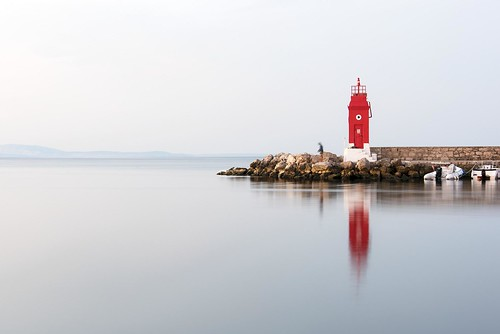 sky water reflection stones fisherman lighthouse red sea beautiful morning sunrise boats krk croatia blue nikon nikond750 nikkor283003556 hrvojesimich gazzda