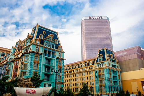 blue sky building beach architecture clouds newjersey view casino atlanticcity boardwalk hotels ballys atlanticocean wildwildwest boardwalkempire