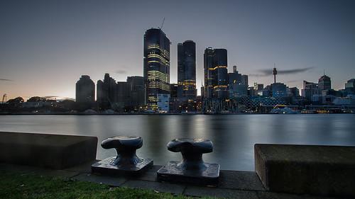 sunrise seascape sydney cityscape cityskyline australia nsw leefilters balaaratpark pyrmont building