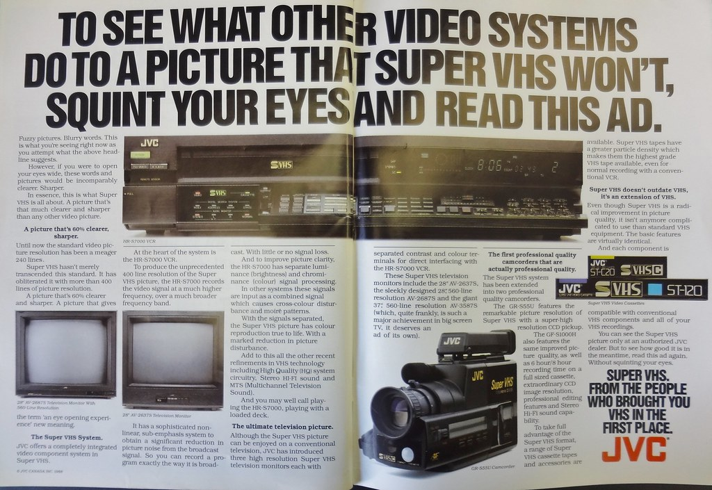 JVC TV Magazine Ad 1988 | Howard | Flickr