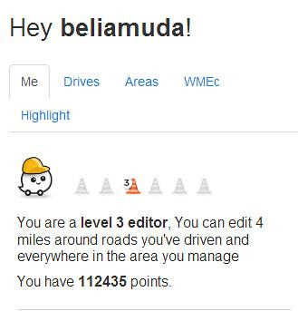 Waze Level 3 Editor | Pada 24 Februari 2013, saya telah dina