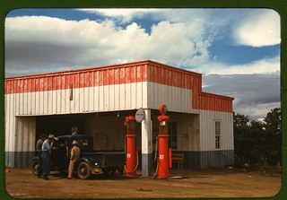 Gas Station in Pie Town NM, 1940 (Public Domain)
