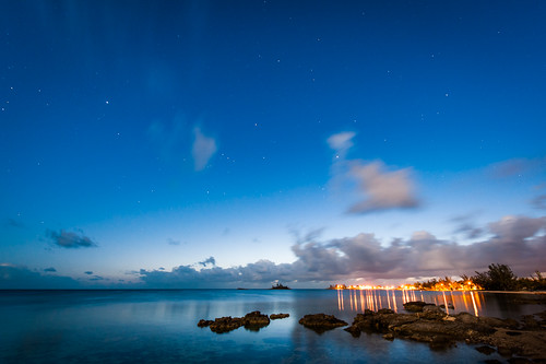 city travel sky water night clouds dark stars lights rocks caribbean bahamas thebahamas centraleleuthera