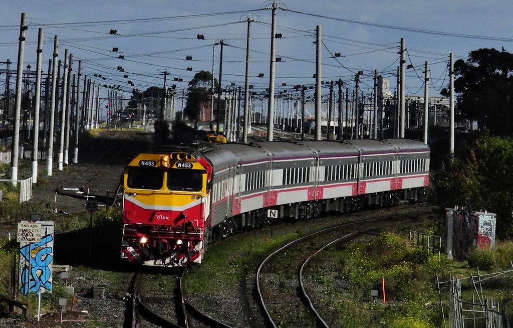 Albury to Melbourne Passenger  at West Footscray by Rodney S300
