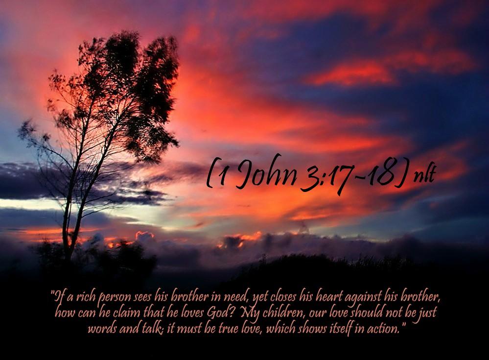 1 John 3:17-18   05-31-13 Today's Bible Scripture    Bob